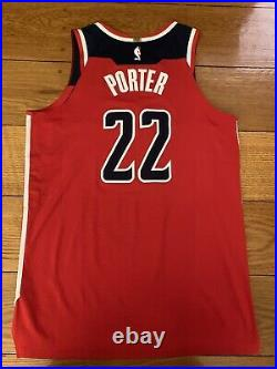 2017 Washington Wizards Otto Porter Game Worn/Issued/Used Jersey Nike NBA RARE