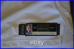 2018-19 Kyrie Irving Game Worn issued Boston Celtics White Home Jersey NBA mic 2