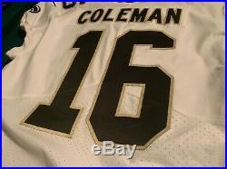 2018 Brandon Coleman New Orleans Saints Game Worn /Issued Jersey BENSON PATCH