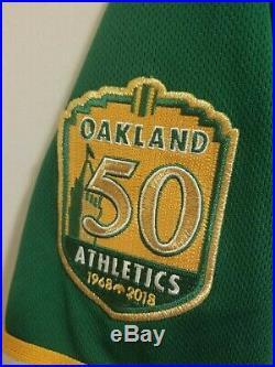 2018 Game Issued/worn Majestic Oakland Athletics Castro Jersey Signed SergioRomo
