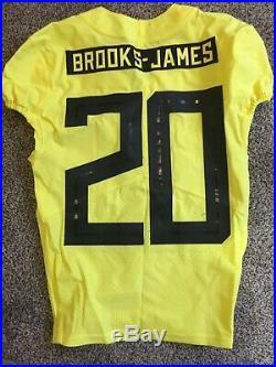 2018 Oregon DUCKS Team Issued NIKE Game Worn FOOTBALL JERSEY #20 MEN'S 38