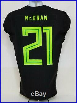 2018 Oregon DUCKS Team Issued NIKE Game Worn FOOTBALL JERSEY #21 MEN'S 40