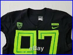 2018 Oregon DUCKS Team Issued NIKE Game Worn FOOTBALL JERSEY #97 Jelks MEN'S 42
