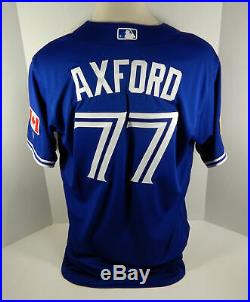 2018 Toronto Blue Jays John Axford #77 Game Issued Blue Independence Day Jersey