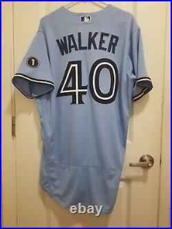 2020 Game Issued/Worn Nike Toronto Blue Jays Pete Walker Powder Jersey Size 46