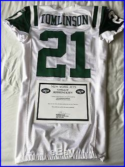 #21 LaDainian Tomlinson Authentic Game Issued Reebok Jersey New York Jets