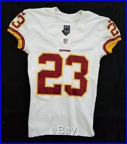 #23 DeAngelo Hall of Washington Redskins NFL Game Issued Jersey
