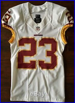 #23 DeAngelo Hall of Washington Redskins Nike Game Issued Jersey