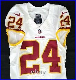 #24 of Washington Redskins NFL Locker Room Game Issued Worn No Nameplate Jersey