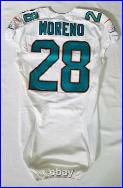 #28 Knowshon Moreno of Miami Dolphins NFL Locker Room Game Issued Jersey