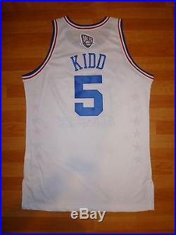 #5 Jason Kidd 2003 Nba All-star Game East White Game-issued Pro-cut Jersey 48+2