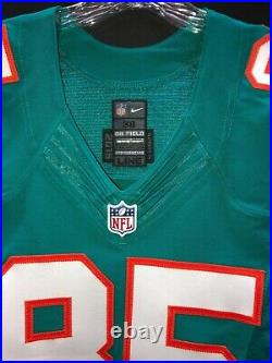 #85 Greg Jennings Miami Dolphins Game Used/issued Throwback Nike Jersey Size 38