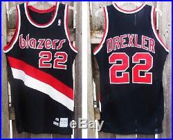 cheaper 6da15 7f97d 87-88 CLYDE DREXLER Portland Trail Blazers game issued ...