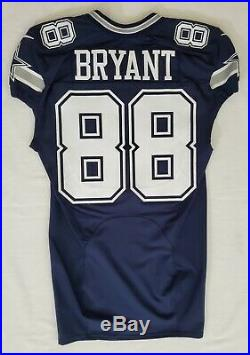 #88 Dez Bryant of Dallas Cowboys NFL Locker Room Game Issued Jersey