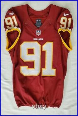 #91 Ryan Kerrigan of Washington Redskins NFL Game Issued Lightly Worn Jersey