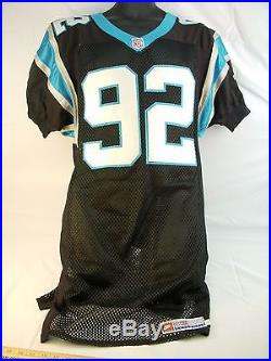 #92 REGGIE WHITE GAME ISSUED JERSEY Carolina Panthers Authentic ProLine 98-38