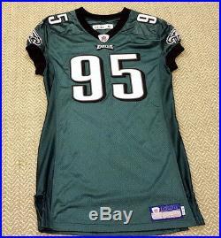 #95 McDougle of Philadelphia Eagles NFL Locker Room Game Issued Worn Jersey