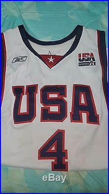 ALLEN IVERSON GAME ISSUED 2004 TEAM USA BASKETBALL GAME ISSUED JERSEY