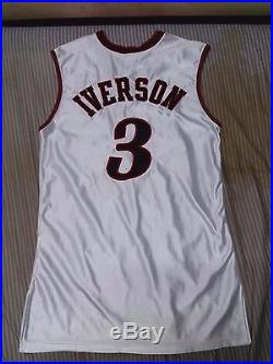 Allen Iverson Game Issued Nba Final Game Jersey