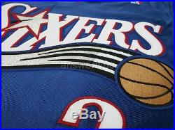 Allen Iverson Game Issued Team Pro Cut 2001-02 76ers Alternate Away Jersey 42+2