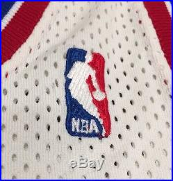Auth Game Worn Issue Sand Knit Detroit Pistons Dennis Rodman Nba Bad Boys Jersey