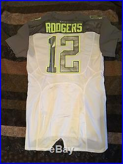 Aaron Rodgers 2015 Pro Bowl game issued jersey with matching pants Packers