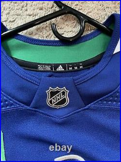 Adidas MiC Game Worn/ Issue Vancouver Canucks 50th 43 Quinn Hughes Jersey sz 56