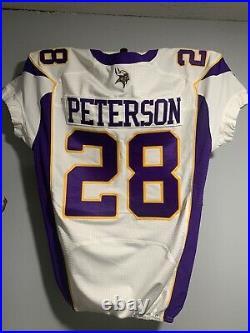 Adrian Peterson 2012 Game Cut Team Jersey Vikings Mvp Like Issued