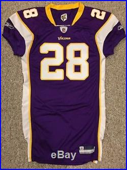Adrian Peterson SIGNED Vikings GAME ISSUED TEAM ISSUED JERSEY 2007