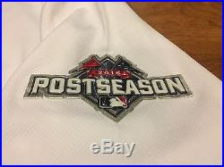 Alex Gordon Game Used 2015 Jersey Royals Playoff Issued Mlb Coa World Series
