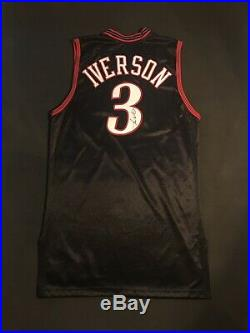 Allen Iverson 2005-06 Philadelphia 76ers Game Issued ProCut Jersey AUTO Used