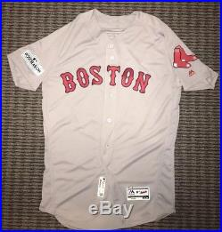 Andrew Benintendi Boston Red Sox Game Issued Used Jersey 2017 Playoffs