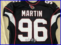 Arizona Cardinals Kareem Martin #96 Game Issued Jersey NFL Rare Black