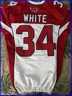 Arizona Cardinals Kevin White #34 Game Issued Jersey NFL