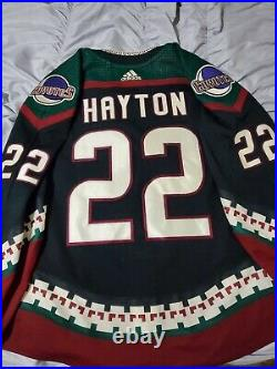 Arizona Coyotes Game Issued Jersey Barrett Hayton Kachina Style 2018-19-LOA