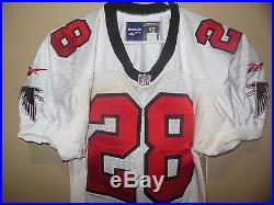 Atlanta Falcons Team Issued Game Jersey 1997 #28 Authentic Pro Line Size 42