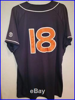 Auburn Team Issued Player Issued Game Used / Worn Baseball Jersey Under Armour
