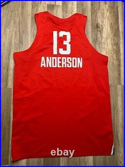 Auth 2018 NBA Celeberity ALL STAR Game Issued Anthony Anderson Pro Cut Jersey 52