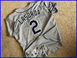 Authentic 1999 LOS ANGELES DODGERS Tommy Lasorda GAME ISSUED Russell Jersey 48