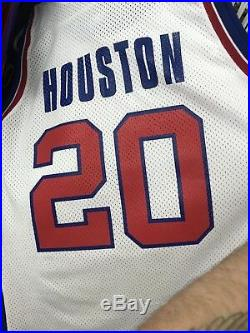 Authentic Allan Houston Detroit Pistons Champion Pro Cut Game Issued Jersey