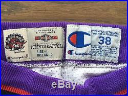 Authentic Champion 95-96 GAME ISSUE Toronto Raptors Jersey Shorts NBA Size 38