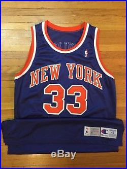 the latest 874dd 2bb6c Authentic Champion Pro-Cut Patrick Ewing NY Knicks Game ...