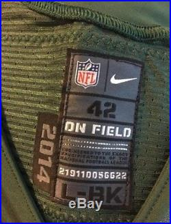 Authentic Eric Decker New York NY Jets Game/Team Issued Jersey Nike Elite 51