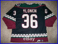 Authentic (Game Issued) Phoenix Coyotes Jersey Ylonen NHL 2000 Size 54
