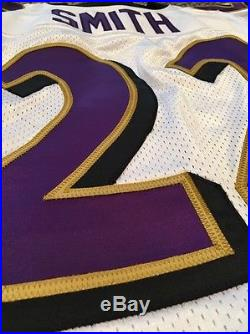 Authentic Jimmy Smith Baltimore Ravens Game Issued Non-Used Game Cut Away Jersey