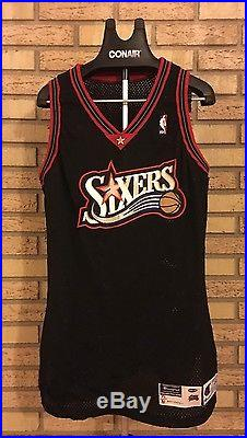 Authentic Philadelphia 76ers Team Issued Game Jersey Size 44 +3 Length, 97-98