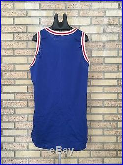 Authentic Philadelphia 76ers Team Issued Game Jersey Size 48, 1996-1997