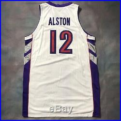 Authentic Rafer Alston Game Used Worn Issued Raptors Jersey Nike Champion