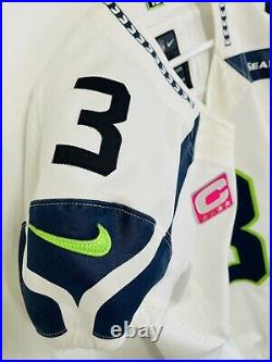 Authentic Russell Wilson Seattle Seahawks Nike 42 Jersey GAME TEAM ISSUED 2014