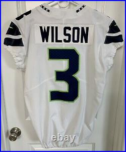 Authentic Russell Wilson Seattle Seahawks Nike 44 Jersey GAME TEAM ISSUED 2018